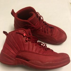 Jordan 12 XII GYM RED jump man suede leather